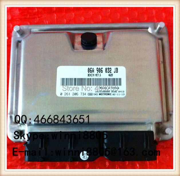 Engnine Control Unit (ECU) / For Bora car engine computer board / car pc / 06A 906 032 JB 06A906032JB 0261206734(China (Mainland))
