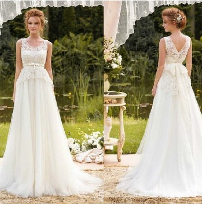 9045 2016 new arrival lace white ivory wedding dresses for