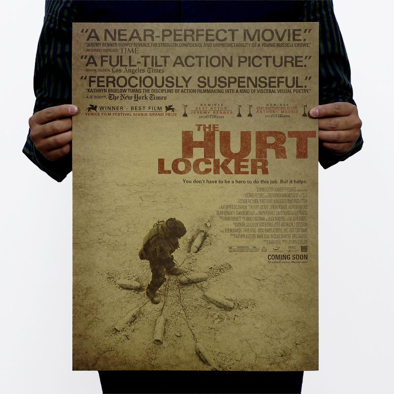 "SYF-N-019 51x35cm Retro vintage poster Kraft paper famous USA movie The Hurt Locker""painting wall sticker home decor living room(China (Mainland))"