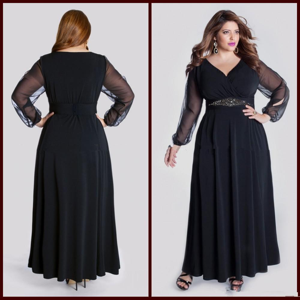Long black evening dress size 22 - Dess store 24