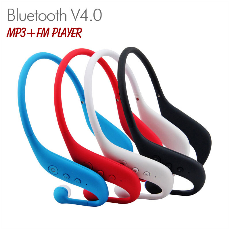 Sports Wireless Bluetooth V4.0 In-ear Headset Earphone Stereo Music MP3 Player FM Radio with TF Card Slot for iPhone, Samsung<br><br>Aliexpress