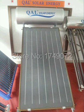 QAL High Efficiency and Quality Flat Panel Solar Water Heater, Blue Titanium Collector,Flat Plate Solar energy,100L(China (Mainland))
