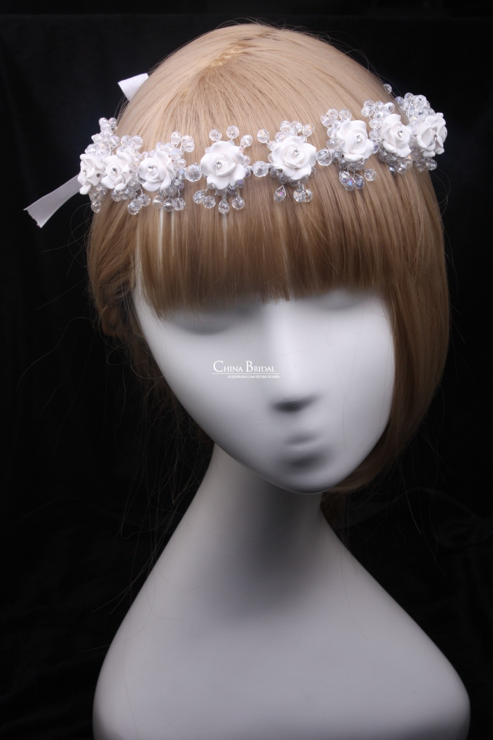 Buy crystal acrylic rhinestone hairband for Where to buy wedding accessories
