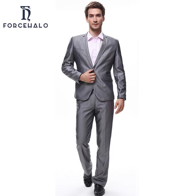 men 39 s suit slim fit business dress suits blazer plus pants top quality. Black Bedroom Furniture Sets. Home Design Ideas