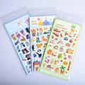 1sheet Animal Rabbit cat stickers for kids Home wall decor on laptop cartoon mini 3D sticker