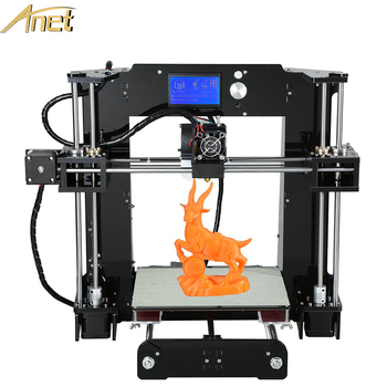 2016 High Quality Anet 3D Printer Easy Assembly Reprap prusa i3 3D printer Kit DIY With Free10m Filament Aluminum Hotbed LCD