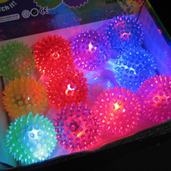 Flashing Light Up Spikey High Bouncing Balls Novelty Sensory Hedgehog Ball Children Kids Toy Gifts Light Up Toys Free Shipping<br><br>Aliexpress