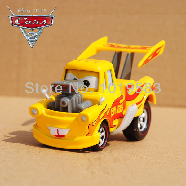 Brand New Original 1/55 Scale Pixar Cars 2 Toys Hot Roddin' Yellow Mater Tow Truck Diecast Metal Car Toy For Children(China (Mainland))