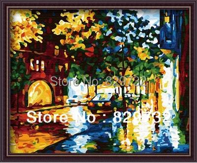 JIUJIU DIY digital oil painting numbers canvas 40X50cm Memories Corner picture gift home deco paint number - Store store