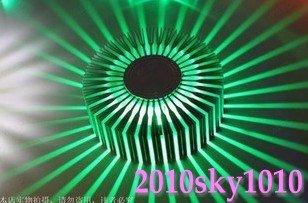 1pcs/Lot Power 3W Green colo rWalll lamp LED Aluminum alloy Cover LED Porch lights Foyer lights Aisle lights(China (Mainland))