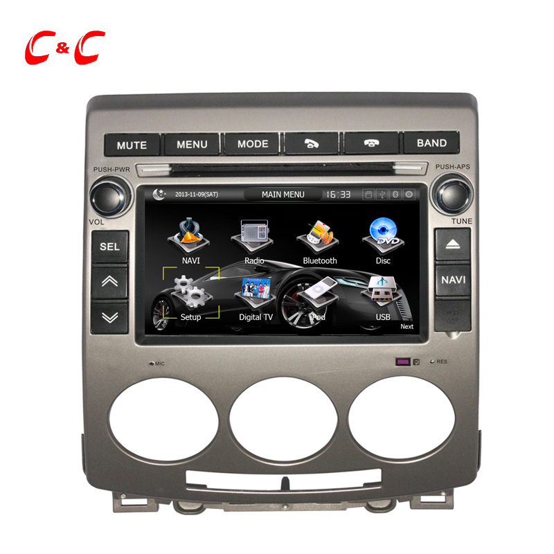 Updated Capacitive Screen---Car DVD Player Mazda 5 2005-2009 Radio GPS Navigation SWC BT Mirror Link+Free 8G Card ! - AE Online store