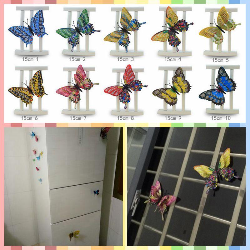 freeshipping large size 3d lifelike butterfly fridge