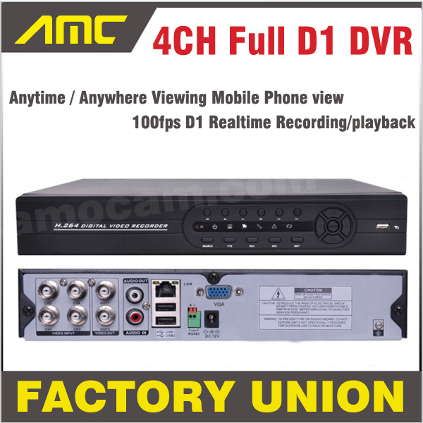 Фотография DVR 4ch Full D1 CCTV DVR Recorder DVR 4 Channel Mobile Phone View Real Time Recording Standalone DVR Recorder