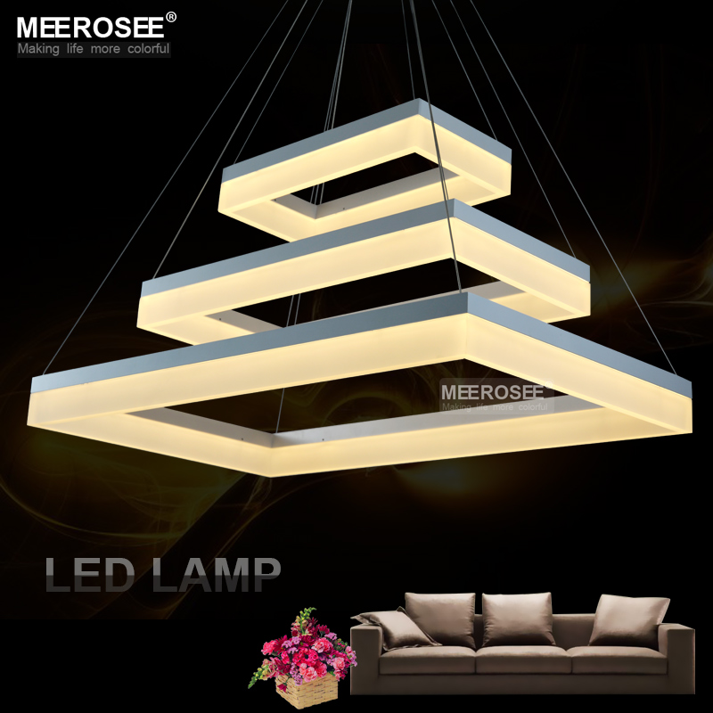 Modern LED Pendant Lights Acrylic 3 Rectangles LED