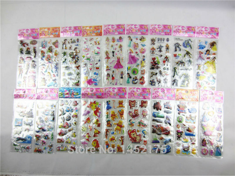 1Cartoon Animals Pattern decoration wall sticker Stickers Sheets Scrapbook Kid children wallpaper decals paster - Angle supermarket store