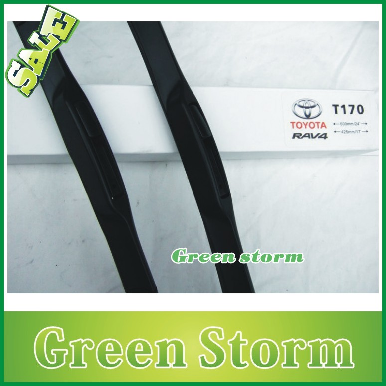 (2pcs/Pair) car wiper blades Toyota RAV4 soft silicone Rubber WindShield Wiper Blade Arm - Green Storm Automobile Products co., LTD store