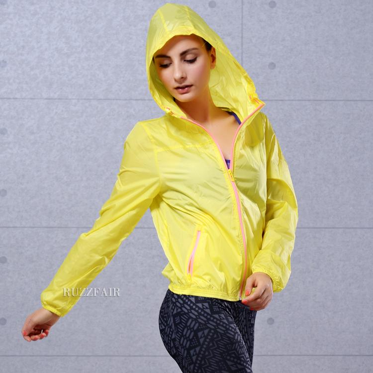 Womens running jacket outerwear ultra-light ultra-thin windproof rainproof clothing sun protective sports outerwear<br><br>Aliexpress