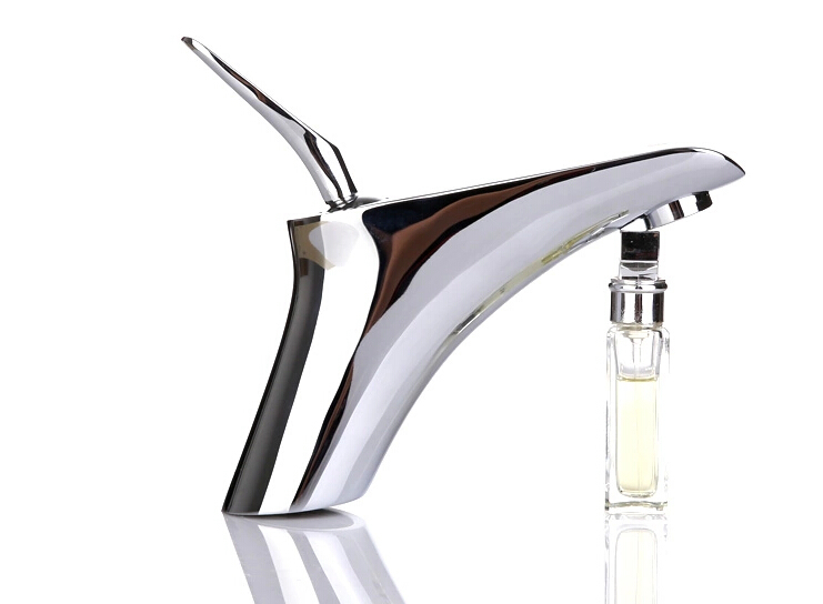 Freeshipping New Modern Chrome Single Lever Kitchen Bathroom Sink Basin Mixer Tap Faucet  Cold And Hot Water Tap shower