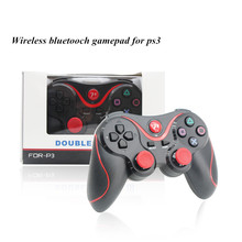 New Gaming Wireless Shock Wireless bluetooth Controller Sixaxis android Joypad Gamepad Joystick For PS3 PC Free shipping