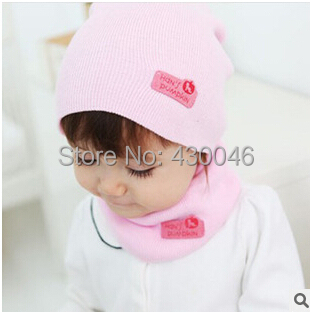Free Shipping Fall and Winter Baby Hat Fashion Unisex Hat and Scarf Sets Korean Style Solid Knit Mittens(China (Mainland))