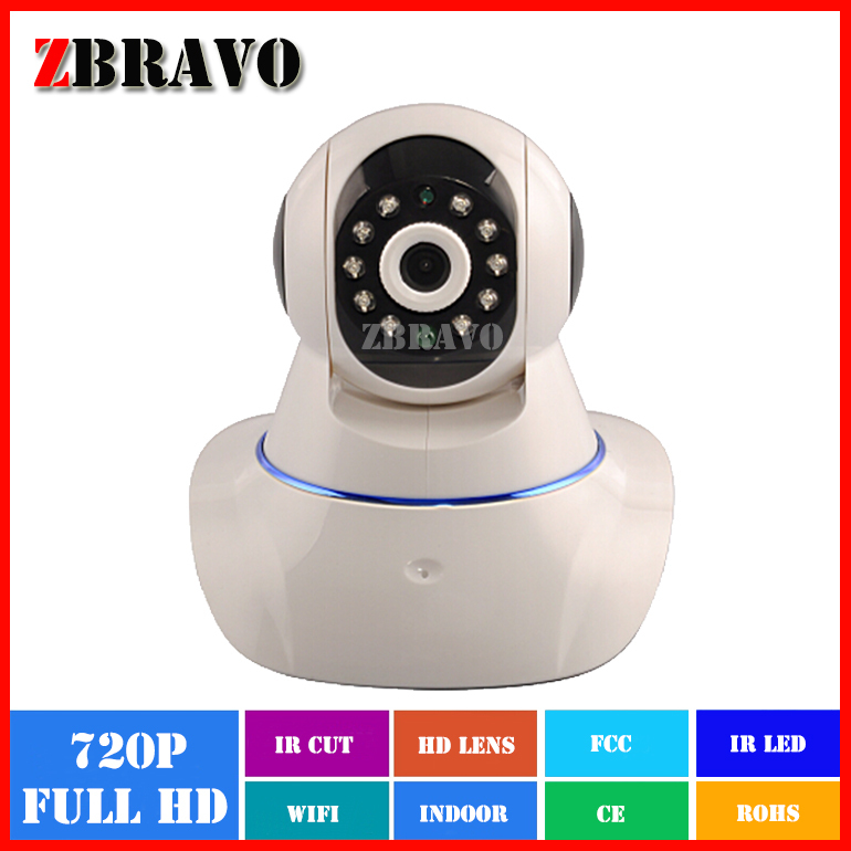 Factory Price H.264 Full HD720P 1Megapixel 1280*720 WIFI Robot ip camera Plug and Play Home Surveillance IP cam(China (Mainland))
