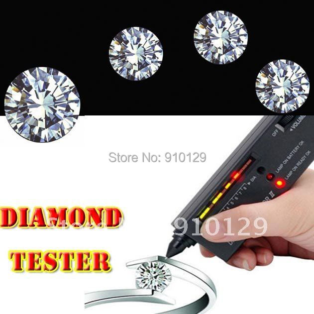 V2 Diamond Tester Gemstone Selector Jewelry Watcher Tool LED+Audio NEW Free Express 10pcs/lot