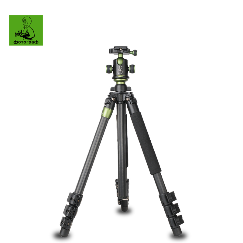 New SYS400C Professional Portable Carbon Fiber Tripod Monopod+Panoramic Ball Head Camera Tripod Stand For Canon Nikon Sony DSLR(China (Mainland))