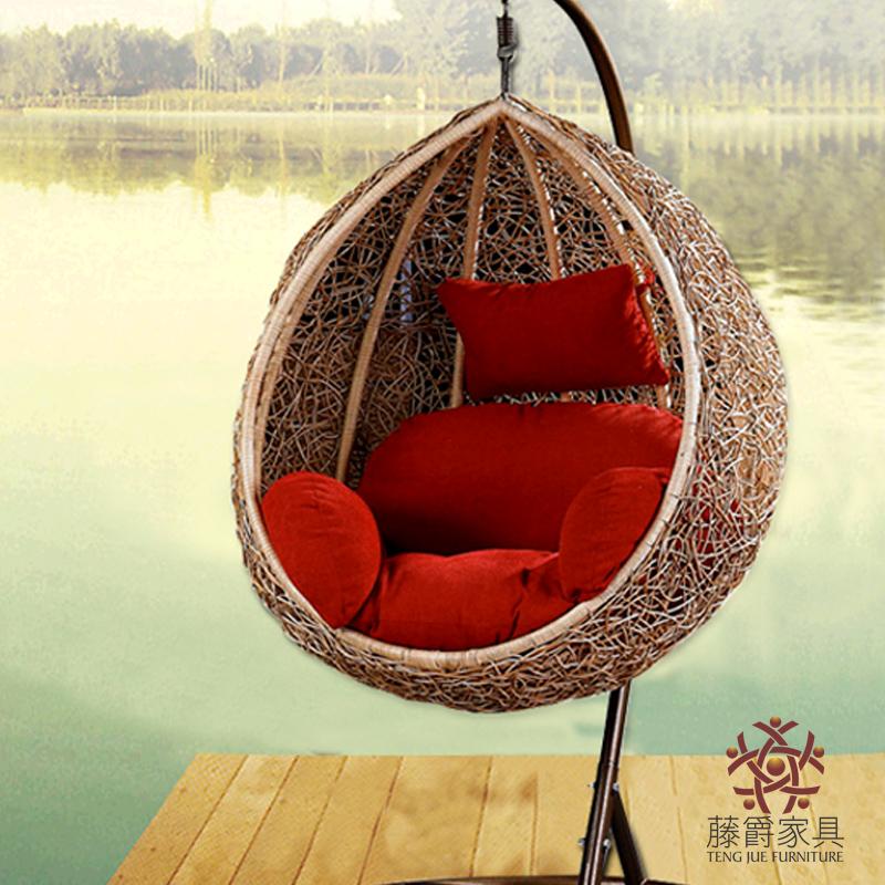 rotin rotin balan oire suspendue chaise de fer forg panier suspendu occasionnel rustique. Black Bedroom Furniture Sets. Home Design Ideas