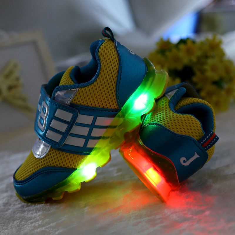 Child light shoes luminous led flash shoes high sneaker fashion girls and boys shoes casual sneaker
