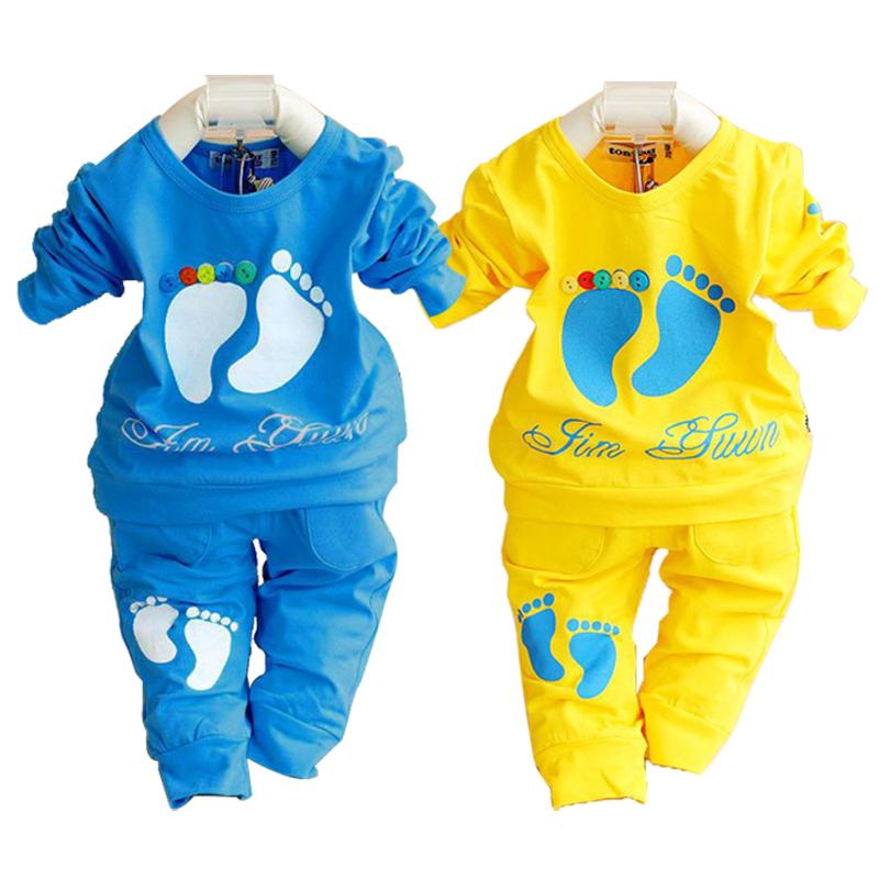 2015 spring autumn baby clothing set cotton newborn