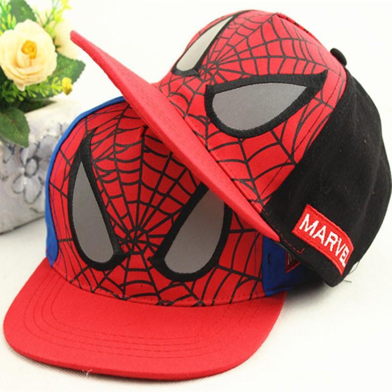 New Fashion Children Cartoon Spiderman Baseball Caps Snapback Adjustable Children's Sports Hats Fit For 48-53cm(China (Mainland))