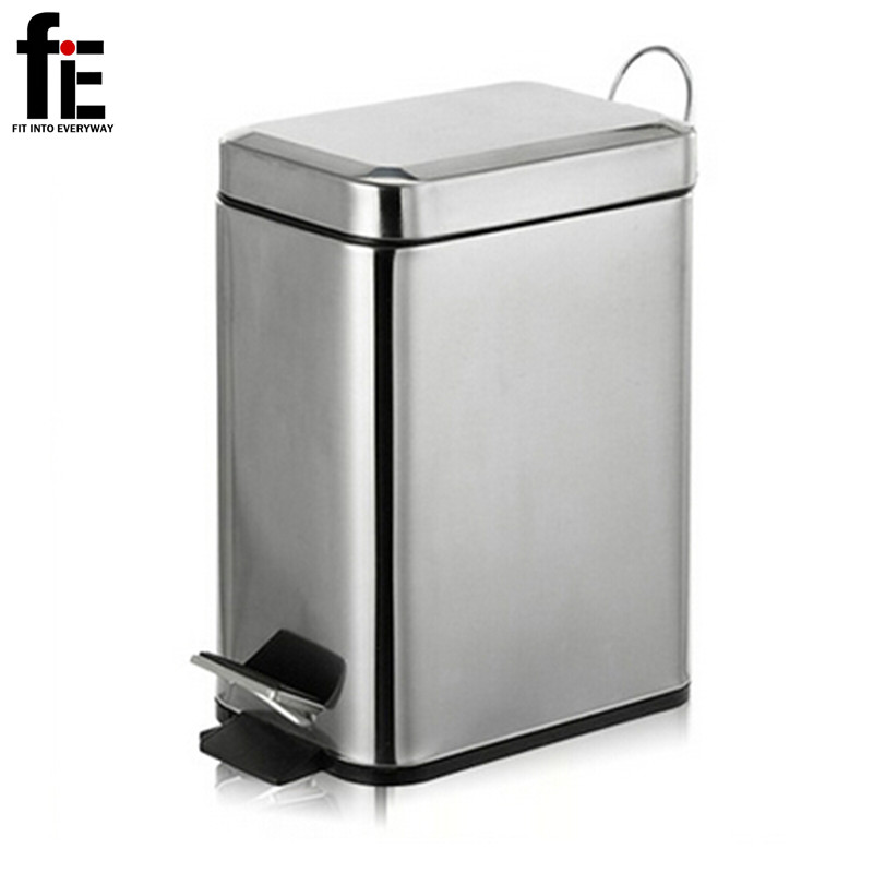 3 5l Mini Stainless Steel Garbage Press Dustbin Small Kitchen Trash Can Eco Friendly Rubbish