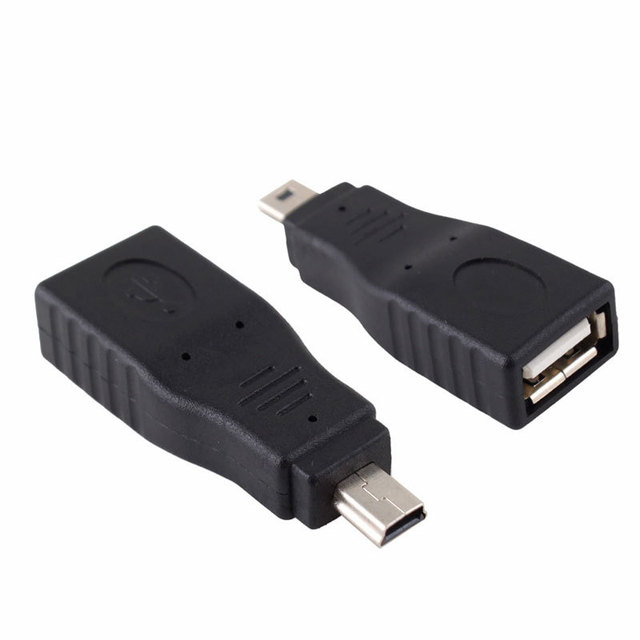 USB Female to Mini USB Male 5 Pin Adapter Converter  #683