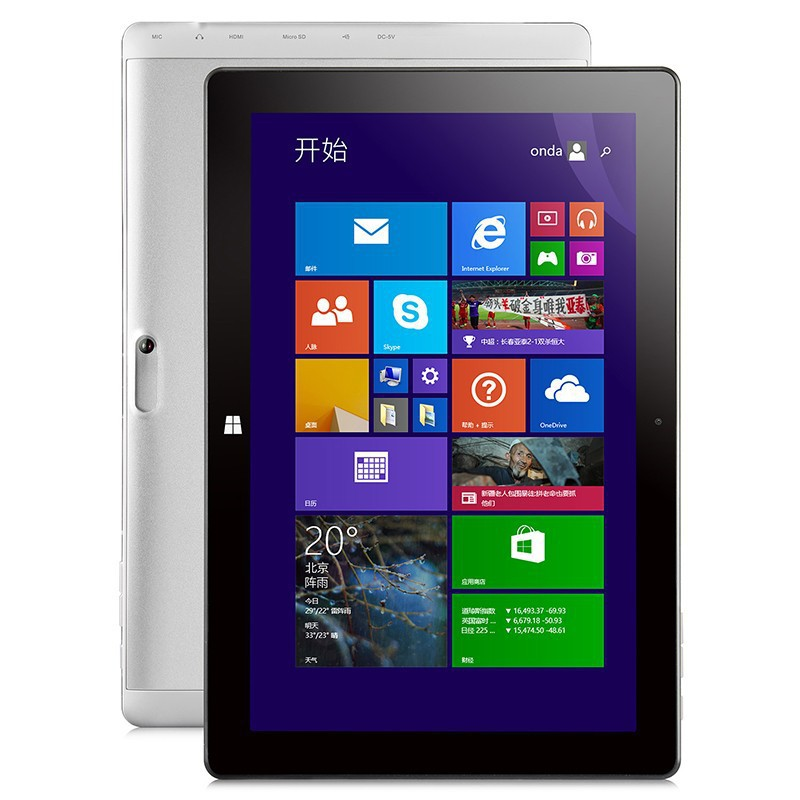 10 1 Onda V102W Intel Z3735F Quad Core Tablet PC Windows 8 1with Bing IPS Screen