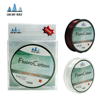 100M Fluorocarbon Fishing Line two colors red/clear 4-32LB Carbon Fiber Leader Line  fly fishing line pesca