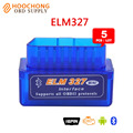 5PCS Lot Super Mini ELM327 Bluetooth Interface V2 1 OBD2 II Diagnostic Tool ELM 327 Works