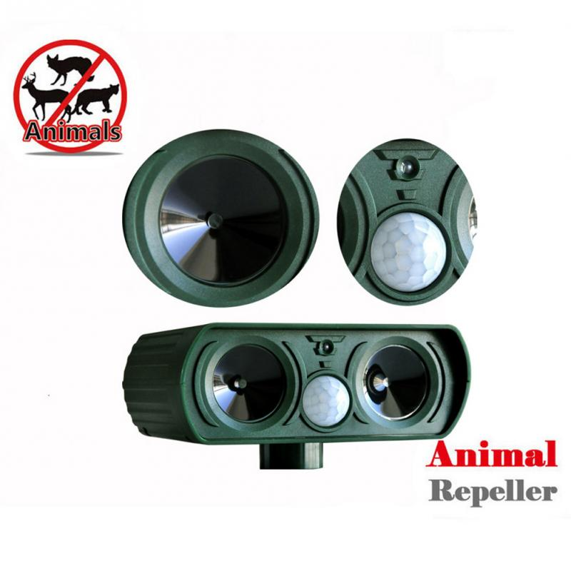 Outdoor Use Animal Repeller Cat Dog Pest Repeller Solar Power Ultra Sonic Scarer Frighten Animal Repellent(China (Mainland))
