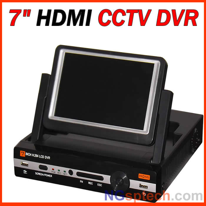 2013 The Newest HDMI 7 Inch Digital LCD H.264 DVR,4 and 8 CHANNEL optional(China (Mainland))