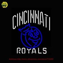Cincinnati Royals Logo Neon Sign NFL Neon Bulbs Room Recreation Neon Sign Glass Tube Handcraft Gifts Affiche Indoor Sign 22x26(China (Mainland))