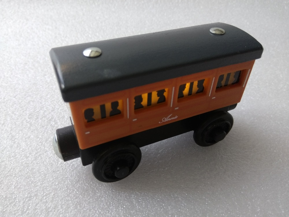 RARE light Annie Original Thomas And Friends Wooden Magnetic Railway Model Train Engine Boy / Kids Toy Christmas Gift(China (Mainland))