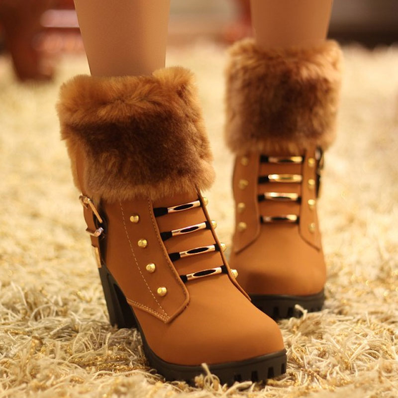 Гаджет  2015 Fashion Female Ankle Boots Women Autumn And Winter Boots  Women