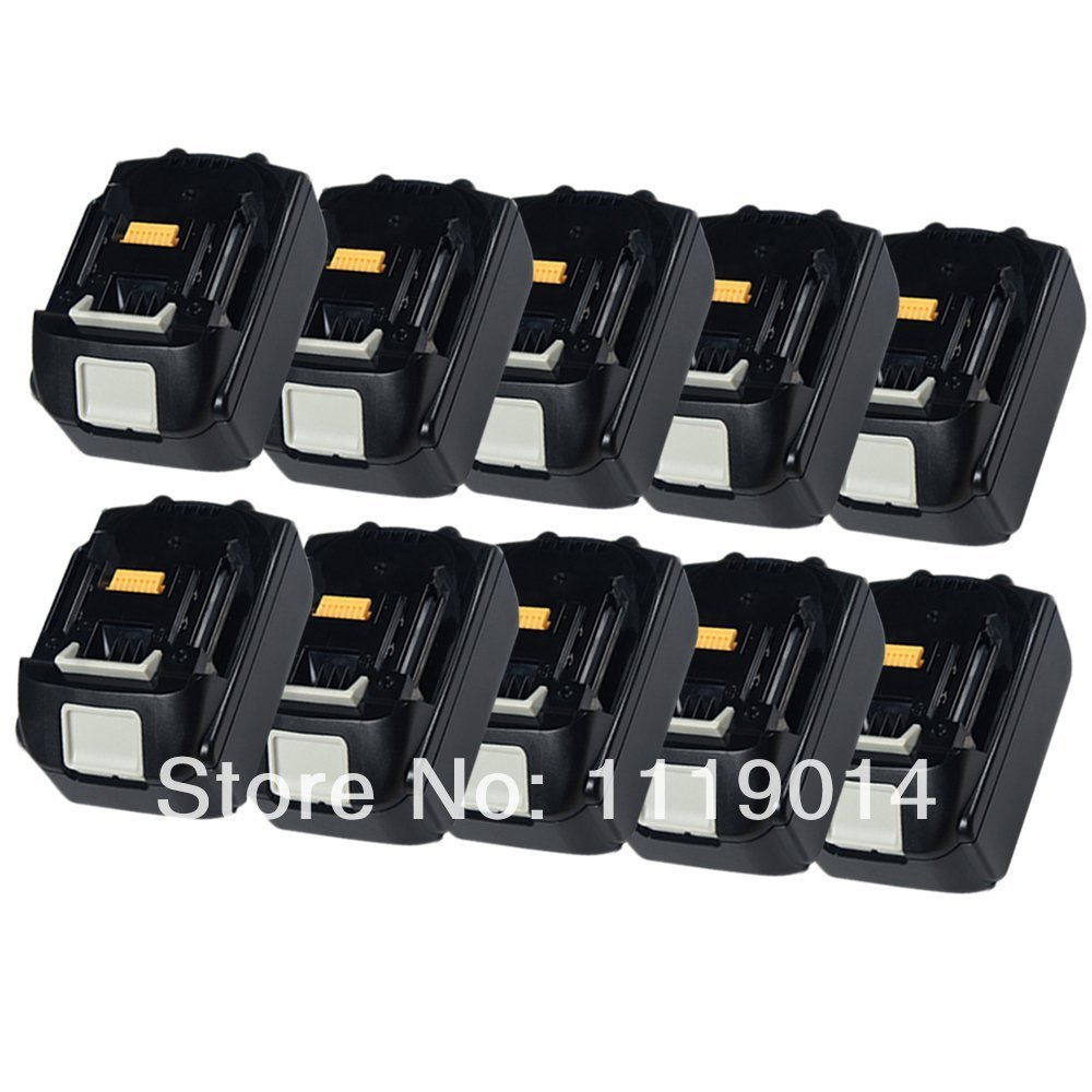 10 pack 18v 3000mah li ion replacement power tools battery for makita ma1830 194205 3 194309 1. Black Bedroom Furniture Sets. Home Design Ideas