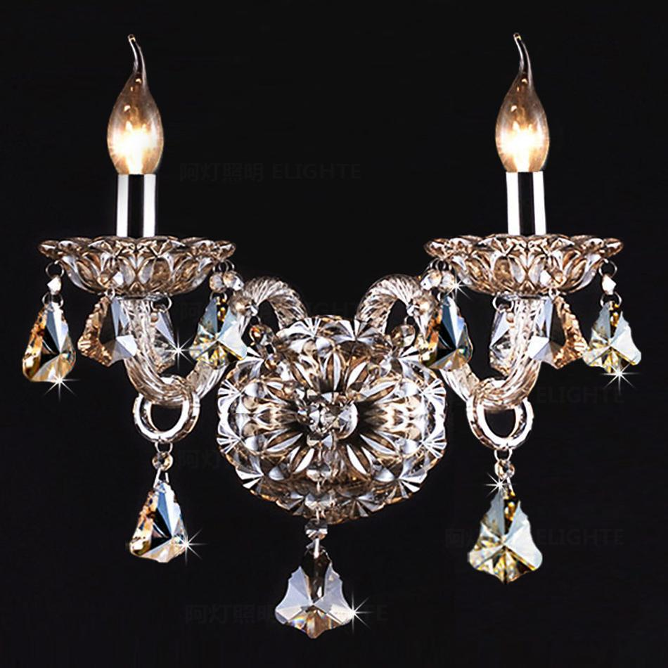 Chandelier Style Wall Sconces : Luxury-Wall-Sconce-Lighting-European-style-wall-lights-mirror-front-lamp-bedside-lamp-crystal ...