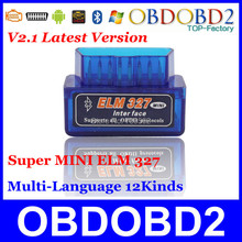 2013 Latest Version V1.5 Super mini elm 327 Bluetooth OBDii / OBD2 Wireless Mini elm327 Works on Android Torque Free Shipping