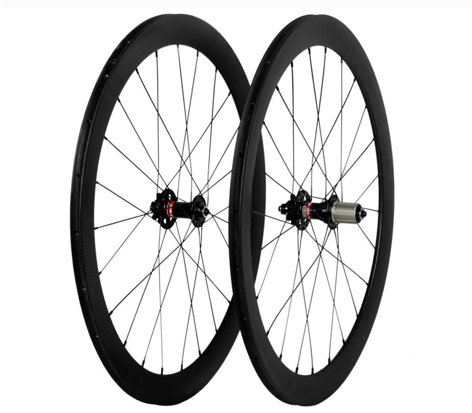 700c disc brake light carbon road bike wheel sets rims 20mm depth 23mm width tubular from taiwan tech wielstel cn factory sale(China (Mainland))