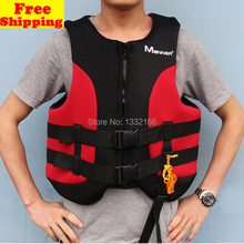 Adult  Life Jacket Vest Child Neoprene swimming clothes Foam Boating Water Fishing Safety Jackets for man or woman With Whistle (China (Mainland))
