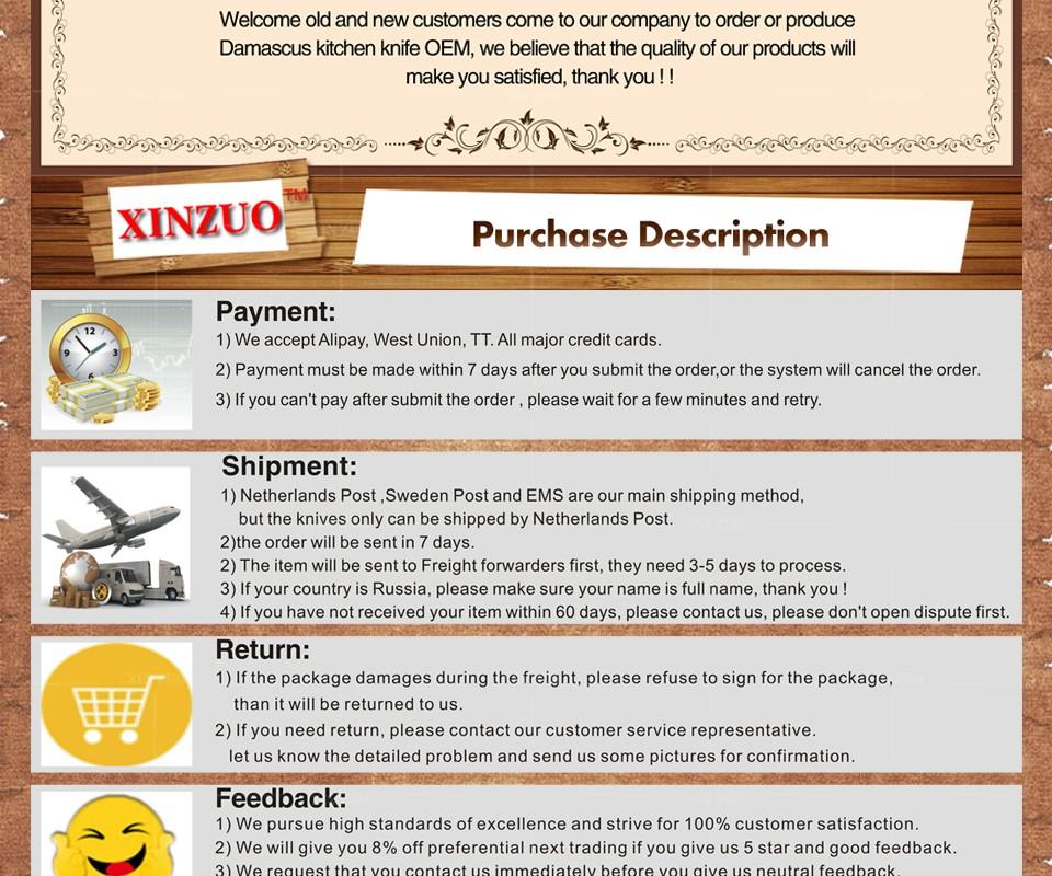 "Buy XINZUO 7"" inch Japanese chef knife Japanese Damascus Steel kitchen knife santoku knife kitchen tool logs handle free shipping cheap"