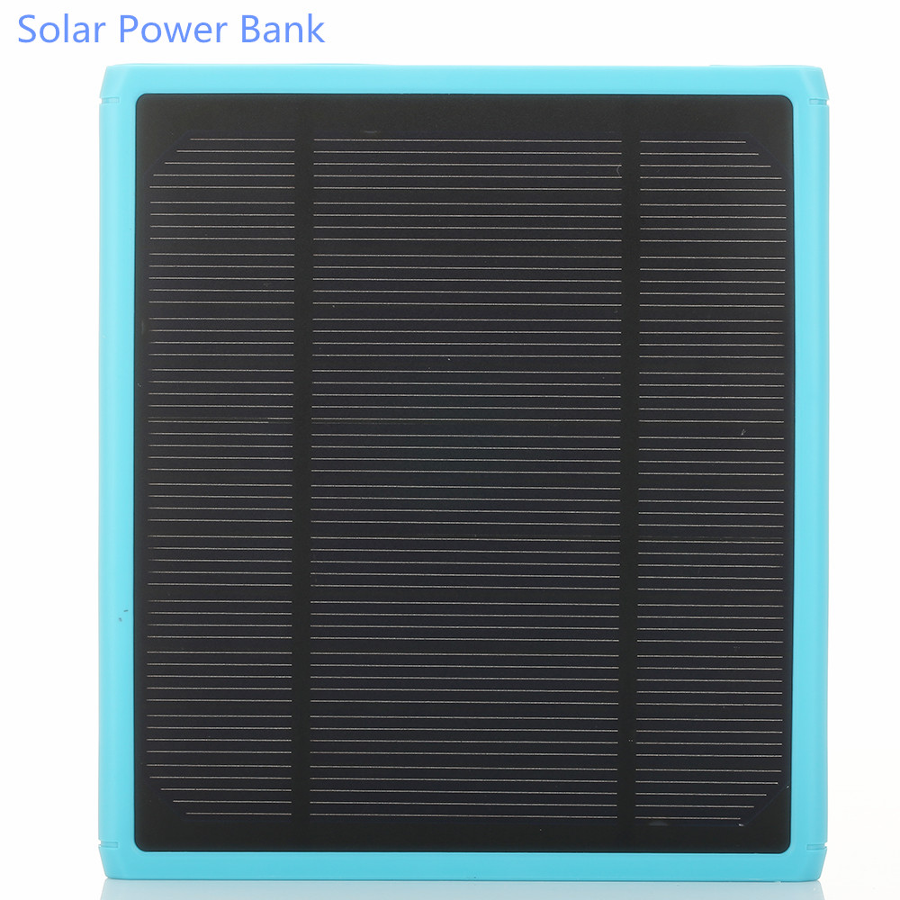 16000mAh solar power bank portable battery charger Dual USB Universal external battery carregador For iPhone Samsung cell phone