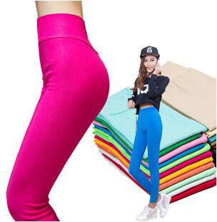 Sale Ladies fitness women leggings candy color legging pencil pants jeggings plus size XXXL 4XL leggins - HEHE Professional Sportswear Center store