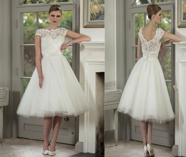 Romantic Antique Wedding: New Romantic Vintage Lace Themed Tea Length Wedding